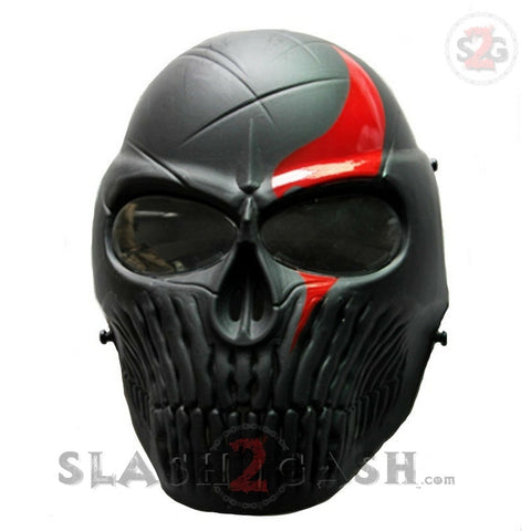 Airsoft Full Face Mask w/ Anti Fog Changeable Lens Paintball Skull Mask