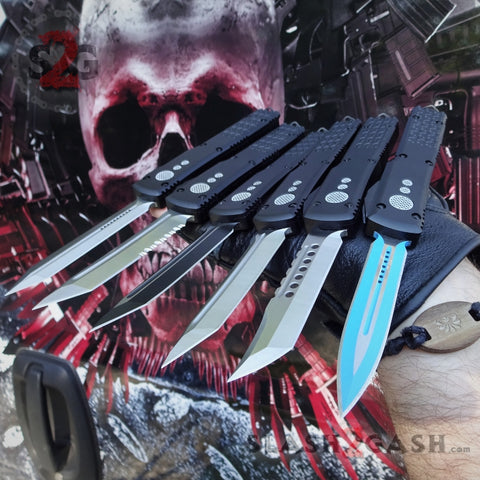 Black Phantom OTF Knife D2 Automatic Switchblade CNC T6061 Delta Force Knives - Slash2Gash S2G
