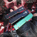 Phantom OTF Knife D2 Automatic Switchblade CNC Highest Quality Delta Force - Tanto Serrated Stonewash - Comparison Chart