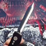 Phantom OTF Knife D2 Automatic Switchblade CNC Highest Quality Delta Force - Double Edge Spartan