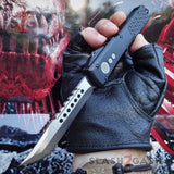 Phantom OTF Knife D2 Automatic Switchblade CNC Highest Quality Delta Force - Tanto Xtreme Satin