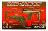 Red Jacket Airsoft Electric UZI and Handgun Set