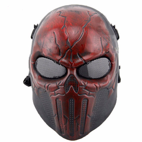 Punisher Tactical Mask Airsoft Wargame Paintball Scary Full Face Skull Mask
