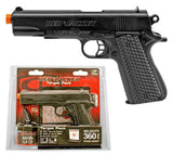 RED JACKET Airsoft Pistol 1911 Handgun Set w/ Gel Target Pack