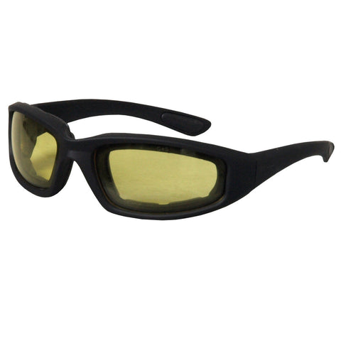 Hot Leathers Legendary Sunglasses with Padding and Yellow Lenses S2G slash2gash