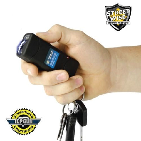 Streetwise Mini Keychain Stun Gun Flashlight Black SMACK 6,000,000 Volt