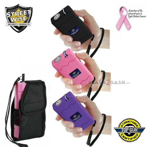 Streetwise Small Fry Stun Gun Flashlight Holster w/ Built-In Wall Charger