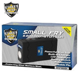 Small Fry 8,800,000 Black Powerful Mini Stun Gun Flashlight Rechargeable