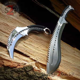Scorpion Claw Karambit Knife & Kukri Machete - 2PC Set SAVE 20%