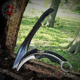 Scorpion Claw Karambit Knife & Kukri Machete G10 w/ Spikes - 2PC Set SAVE 20% @ slash2gash.com S2G