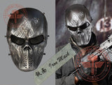 Iron Mask 9 Styles Tactical Mask Airsoft Wargame Paintball Motorcycle Halloween Full Face Skull