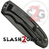 Smith & Wesson Extreme Ops Black Automatic Knife - Tanto Serrated SW50BTS S2G slash2gash