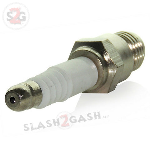 Spark Plug Pipe One Hitter with Hidden Stash - Smoking Pipe