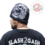 Hot Leathers Sublimated Assassin Skull & Pistols Beanie 3D Art