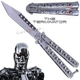 Terminator Butterfly Knife Chrome Mirror Finish Balisong SHINY High Polished Tanto Slash2Gash S2G