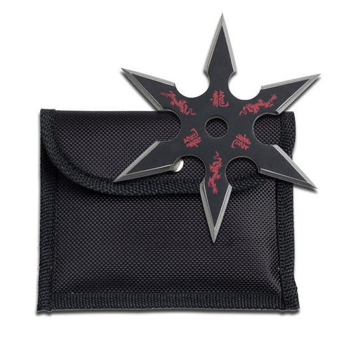 "Throwing Star Perfect Point Shuriken 6 Point Ninja Weapon - 4"" Black"