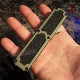 Taiwan Titan OTF D/A Grey Automatic Knife Switchblade Gray - upgraded Dual Action out-the-front knives