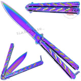 Twist Butterfly Knife Drop Point Balisong - Rainbow Spectrum M-Tech Darrel Ralph