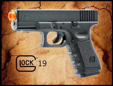 Licensed GLOCK 19 Gen3 Non-Blowback CO2 Airsoft Pistol by Elite Force