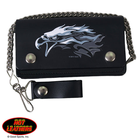 Hot Leathers Tribal Eagle Bi-fold Wallet w/ Chain American Made USA S2G slash2gash