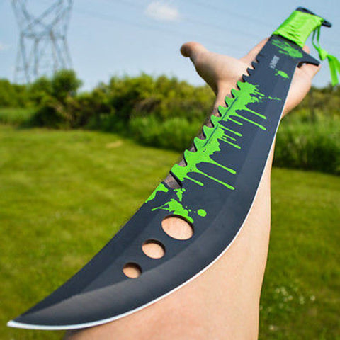 "25"" FULL TANG Tactical Survival Zombie MACHETE Eradicator w/ Sheath"