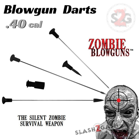 Zombie Blowgun Darts .40 Caliber Avenger - Broadhead, Safety Stunner, Spearpoint, Spike, Target x25 count/pcs