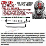 "Zombie 54"" Blowgun .40 cal LOADED w/ 30 Darts - 2PC Zombie Green"