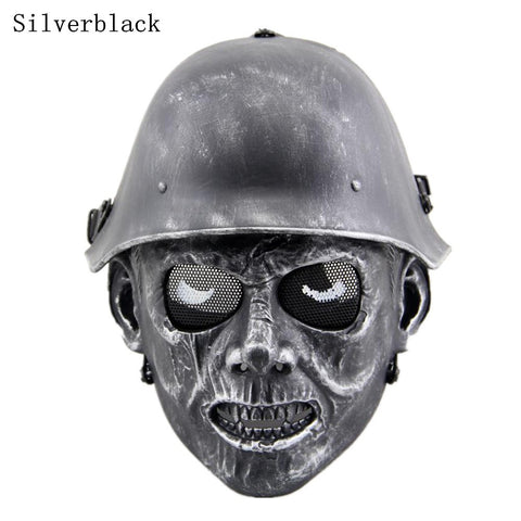 Zombie Soldier Tactical Mask Airsoft Wargame Halloween Full Face Skull