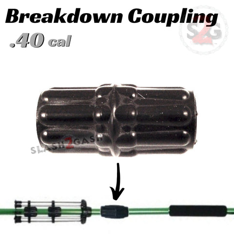 Breakdown Coupling .40 Caliber Blowgun Accessory - Connector Coupler 2pc Connection