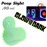 Glow In The Dark Peep Sight .40 Caliber Blowgun Accessories - Crosshair Muzzle Guard