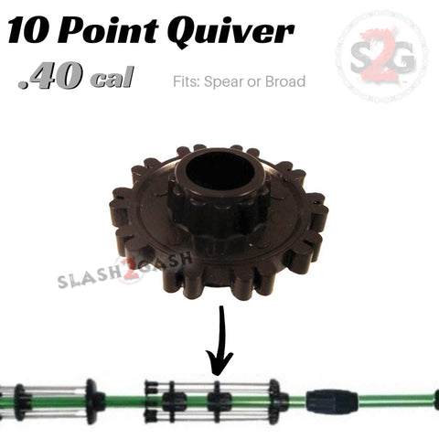 10 Point Quiver .40 Caliber Blowgun Accessory - Fits Hunting Broadhead or Spear Darts, Holder