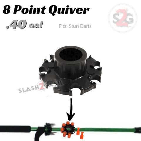 8 Point Quiver .40 Caliber Blowgun Accessory - Fits Stun Darts, Holder