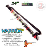 "Warrior 24"" Blowgun .40 cal LOADED w/ 40 Darts - Green Camo Avenger Blowguns"
