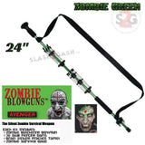 "Zombie Blowguns .40 cal LOADED w/ 30 Darts - Zombie Green 24"" inch - Avenger USA"