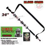 "Zombie Blowguns .40 cal LOADED w/ 30 Darts - Blood Red Camoflage 24"" inch - Avenger USA"