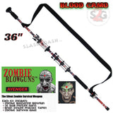 "Zombie Blowguns .40 cal LOADED w/ 30 Darts - Blood Red Camoflage 36"" inch - Avenger USA"