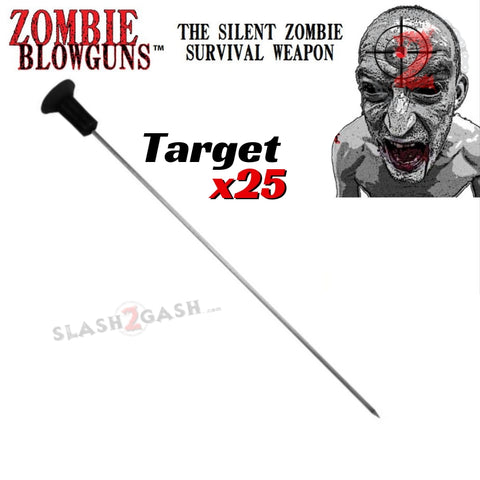 Zombie Darts Target Sharp Wire .40 Caliber Blowgun Ammo - x25