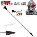 Zombie Blowgun Darts .40 Caliber Avenger - Broadhead Hunting Dart x25 count/pcs