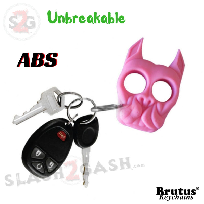 Brutus Self Defense Keychain Abs Knuckles Pink Punchy Puppy