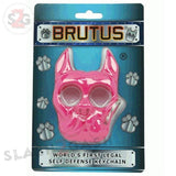 Brutus the Bulldog Self Defense Keychain ABS Knuckles - Hot Pink Punchy Puppy