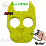 Brutus the Bulldog Self Defense Keychain ABS Knuckles - Neon Yellow/Green Punchy Puppy