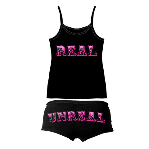 "Hot Leathers ""Real & Unreal"" Boy Shorts and Tank Top Combo"