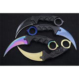 9 colors CSGO Counter Strike KARAMBIT Tactical Claw Neck Knife w/ Sheath