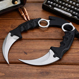 CSGO karambit silver tactical claw neck knife fixed blade knives counter strike CS GO hawkbill with sheath