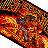 Hot Leathers Street Ride It Like You Stole It Flag 3 x 5 w/ Metal Grommets