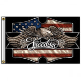 Hot Leathers Freedom Eagle Flag 3 x 5 w/ Metal Grommets