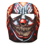 Hot Leathers Smoking Clown Face Mask Neoprene Evil Clown w/ Cigar Head Wear