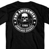 Hot Leathers 2nd Amendment Double Sided T-Shirt Homeland Security