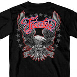 Hot Leathers Freedom Eagle Short Sleeve T-Shirt Double Sided Biker Shirt