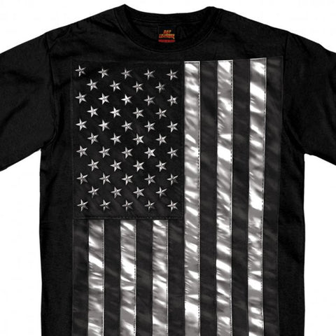 Hot Leathers Jumbo Black and White Flag T-Shirt NEW American Flag